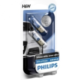 Лампа H6W WhiteVision12V 6W BAX9s 2шт blister Philips - фото