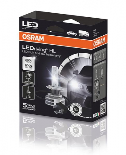OSRAM H4 LED 12/24V 14W 6000K P43T / LEDRIVING® HL H4 GEN2 / COOL WHITE (комплект 2шт)